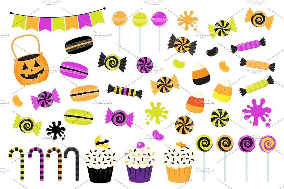 Candy . Clipart halloween sweet