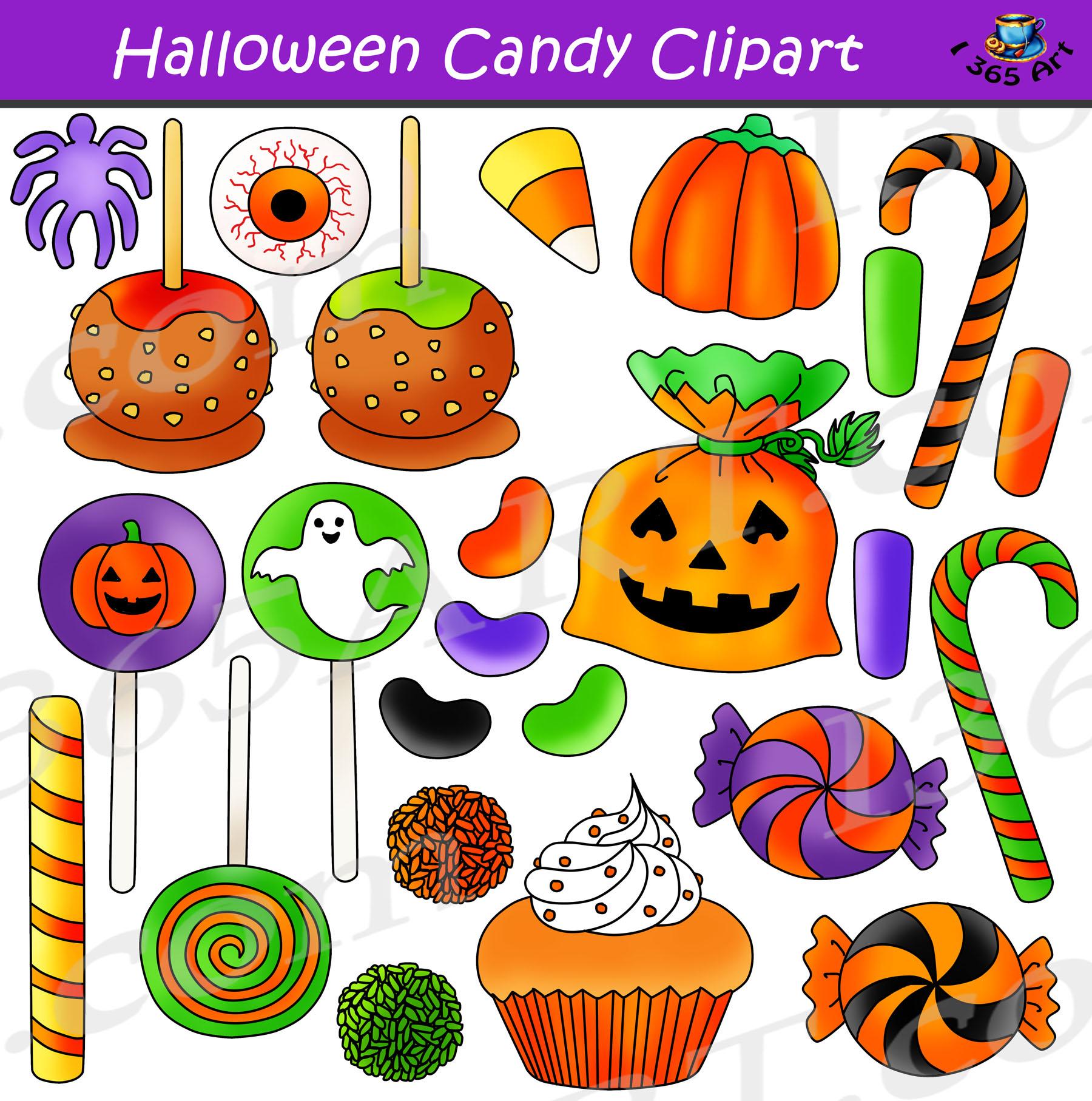 Candy graphics bundle . Clipart halloween treat