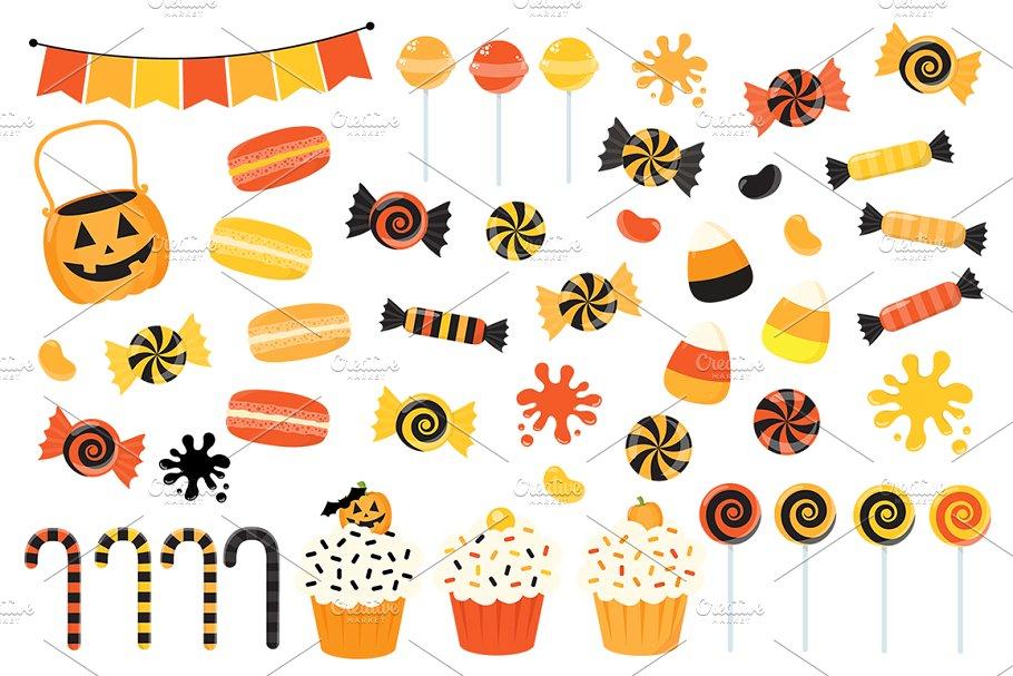 Clipart halloween treat. Orange candy