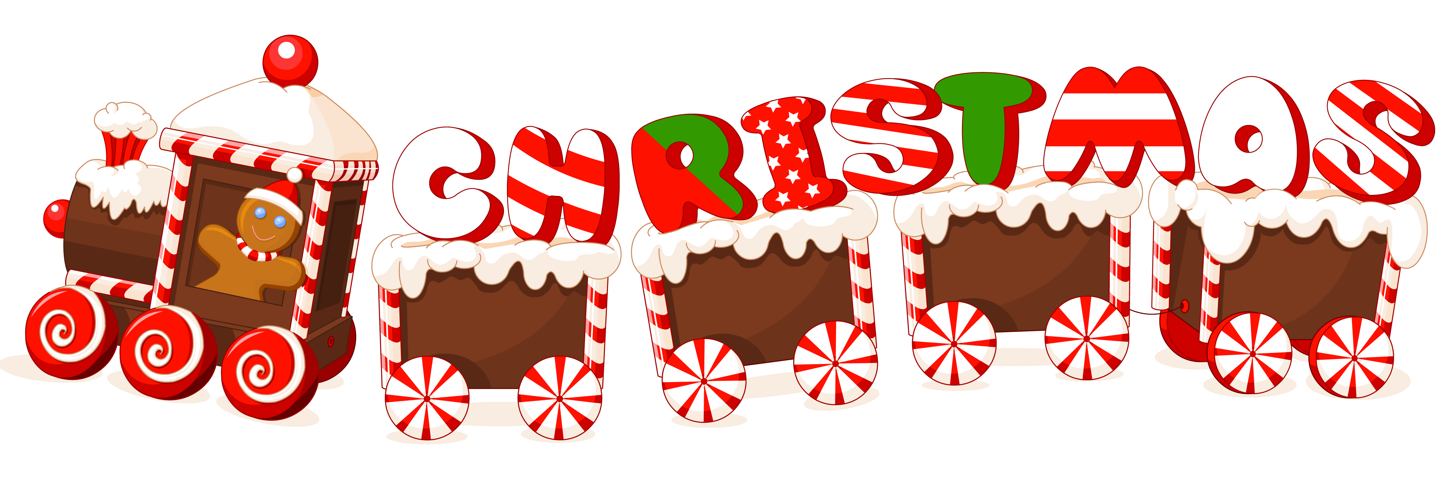 Merry candy train text. 2016 clipart christmas