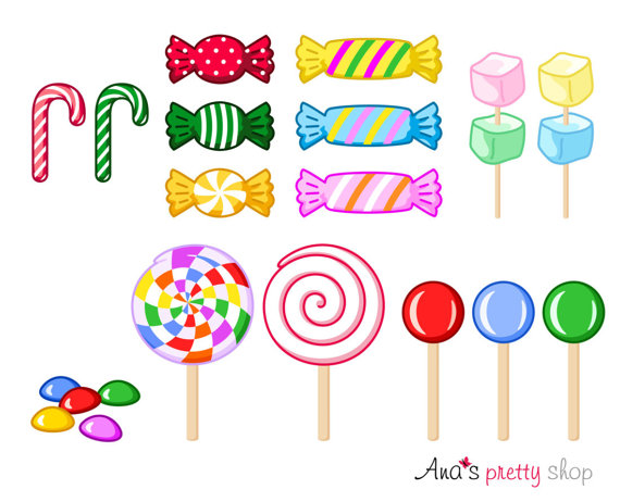 Sweet lollipops marshmallow . Candy clipart lollipop