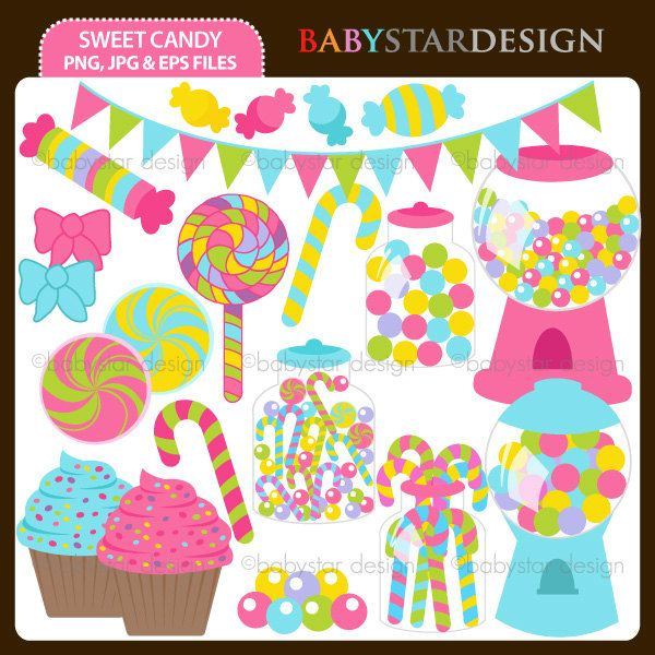 Candy clipart shelf.  best sweets themes