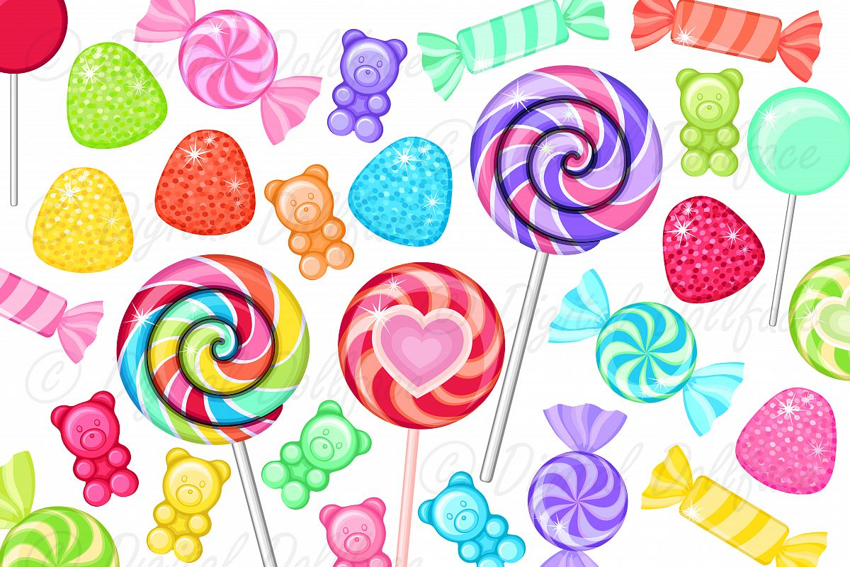 Candy clipart sweet food. Colorful clip art rainbow