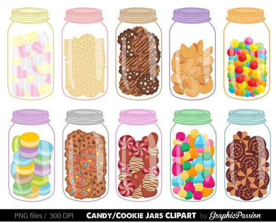 Jars digital cookie jar. Candy clipart sweet food