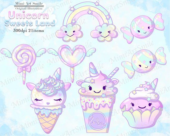 Sweets land baby clip. Clipart unicorn candy