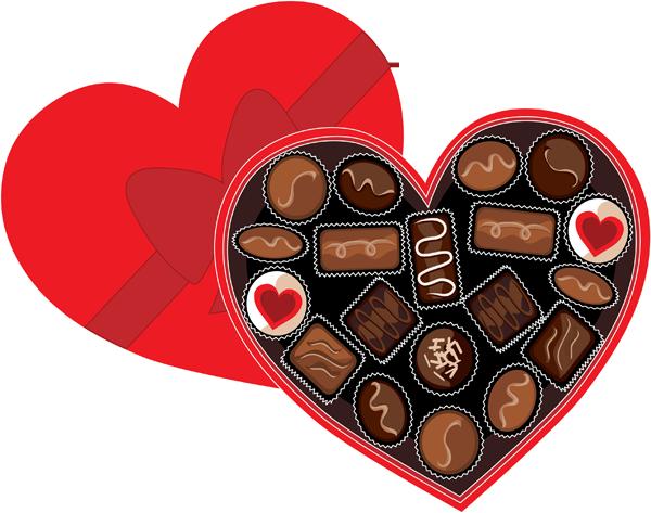 Valentine clipart chocolate. Yummy clip art of