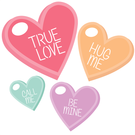 Scrapbook clip art valentiens. Candy hearts png