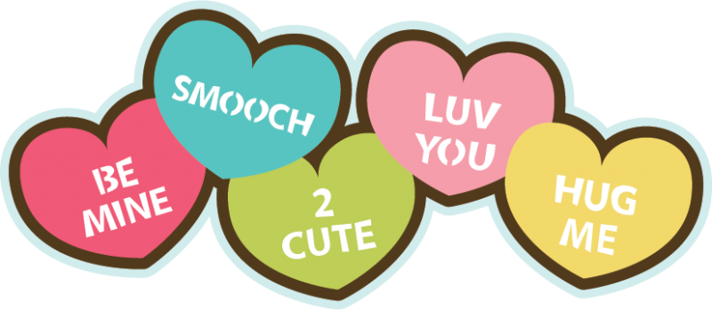 Svg file for scrapbooking. Candy hearts png