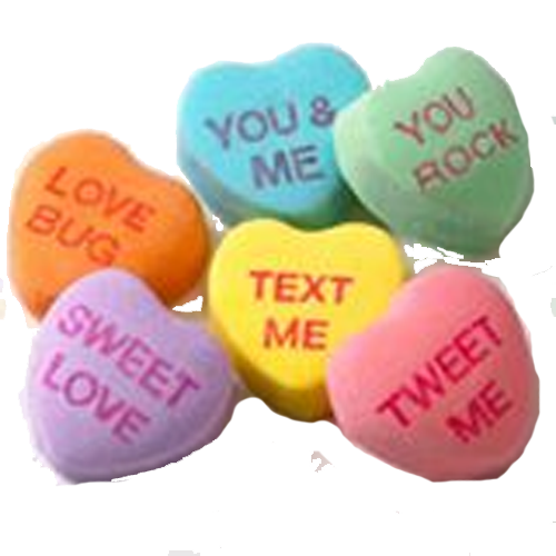 Candy hearts png. Sweethearts conversation candies lb