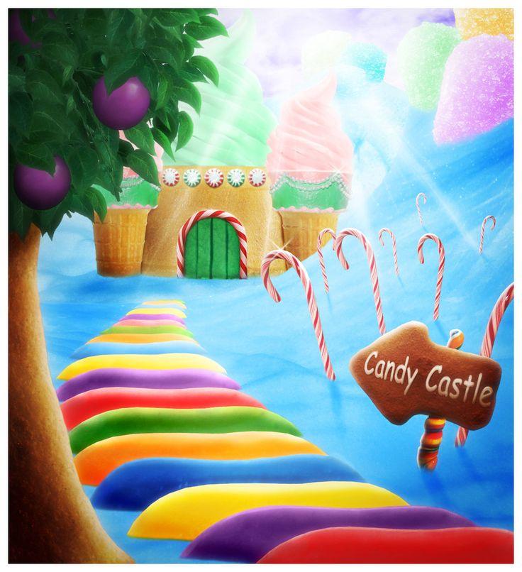 Christmas Candyland Backdrop.Candyland Clipart Background Candyland Background