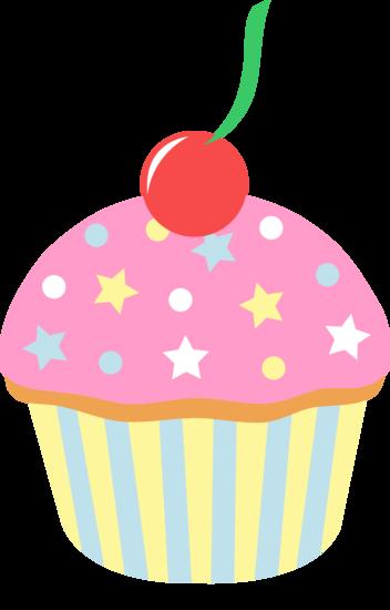 cherry clipart birthday cupcake