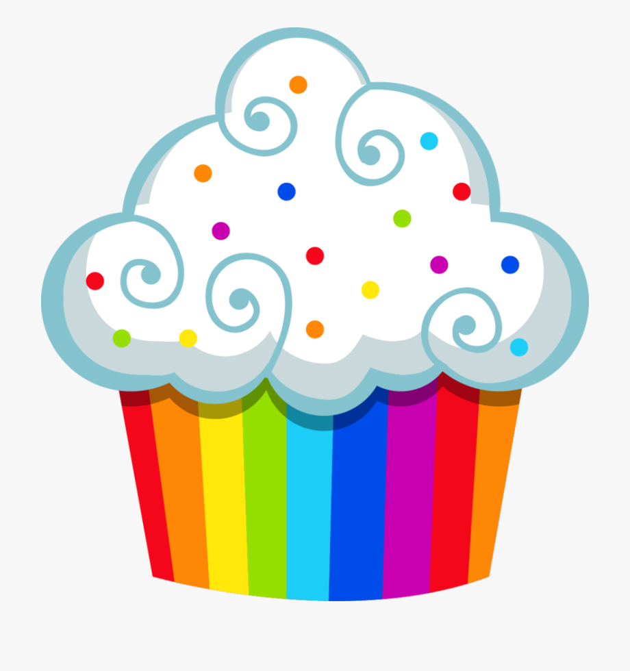 Muffin clipart rainbow cupcake. Cupcakes candyland