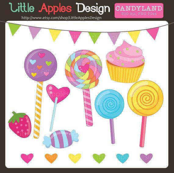 Clip art candyland. Lollipop clipart cake candy