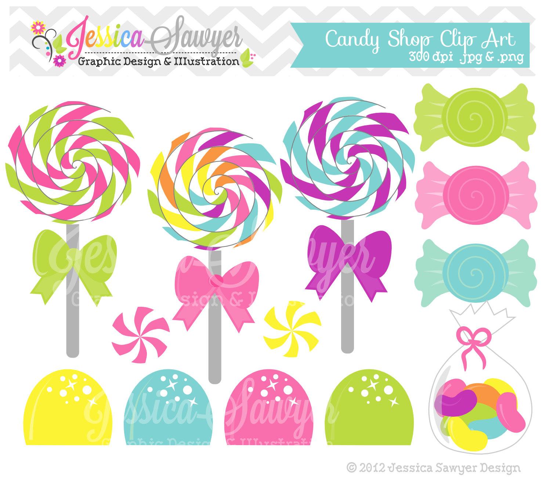 Instant download shop clip. Candy clipart lollipop