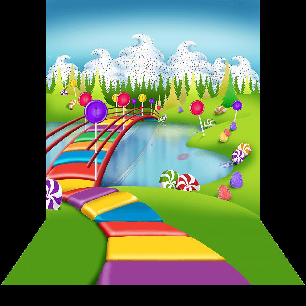 Candyland background collection images. Clipart road landscape