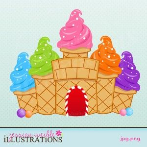 Cream castle school pinterest. Ice clipart candyland