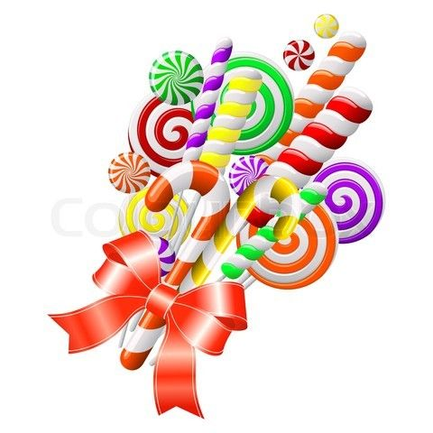 Of lollipops with red. Candyland clipart vector