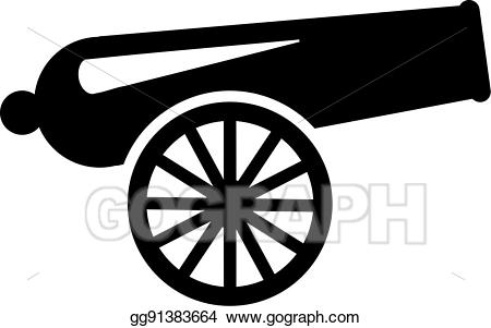 Cannon clipart. Vector art drawing gg