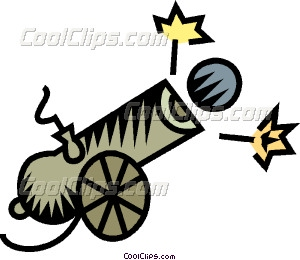 Vector clip art. Cannon clipart