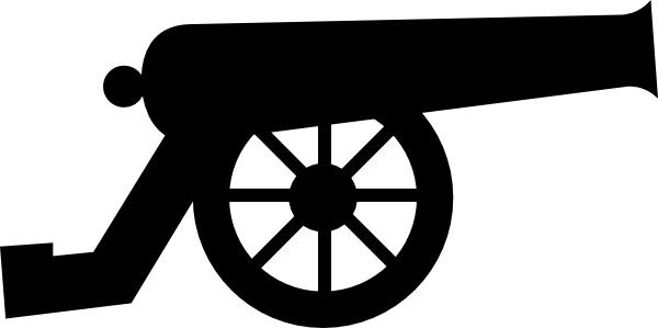 Clip art free vector. Cannon clipart