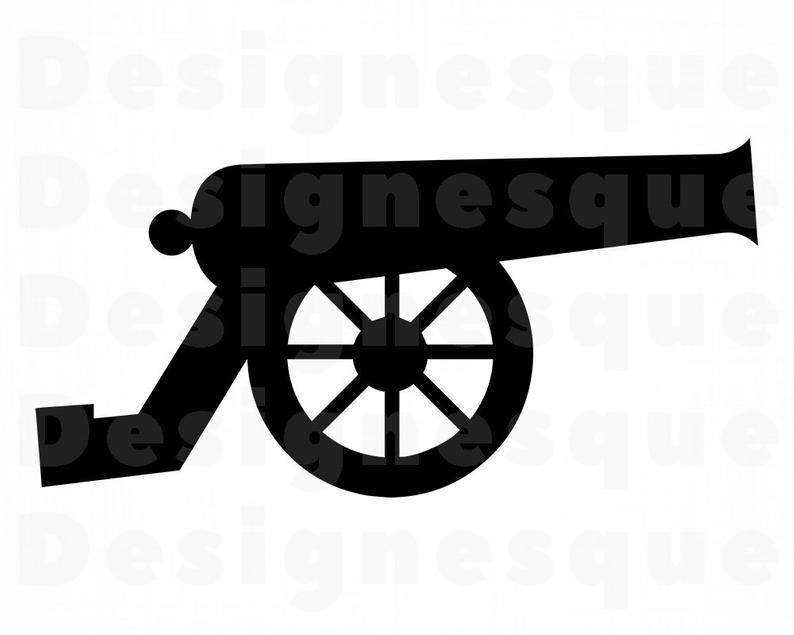 Canon svg artillery war. Barrel clipart cannon