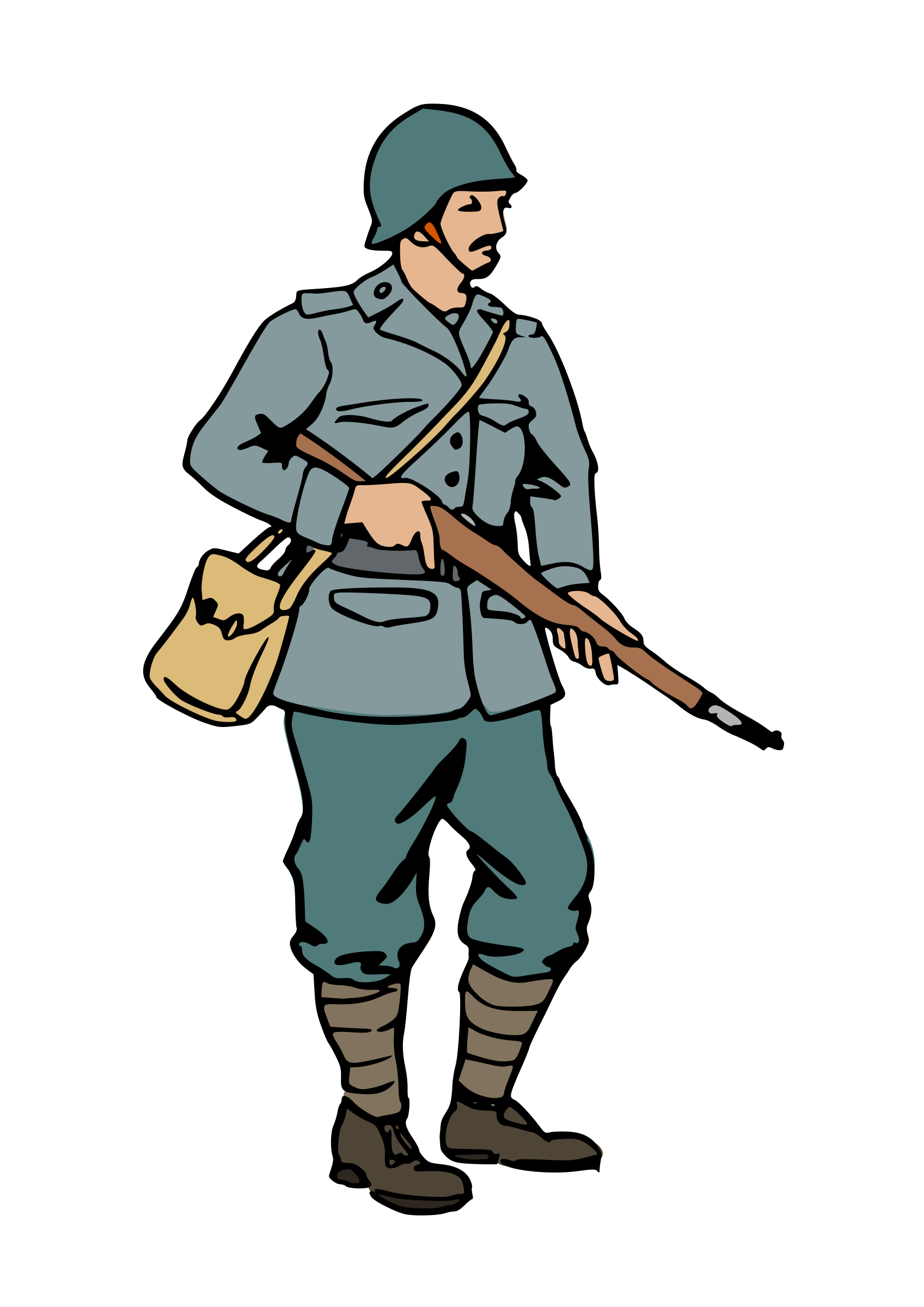 Warrior clipart sport. Wwi soldier silhouette at