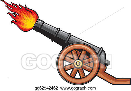 Cannon clipart sketch. Vector art ancient drawing