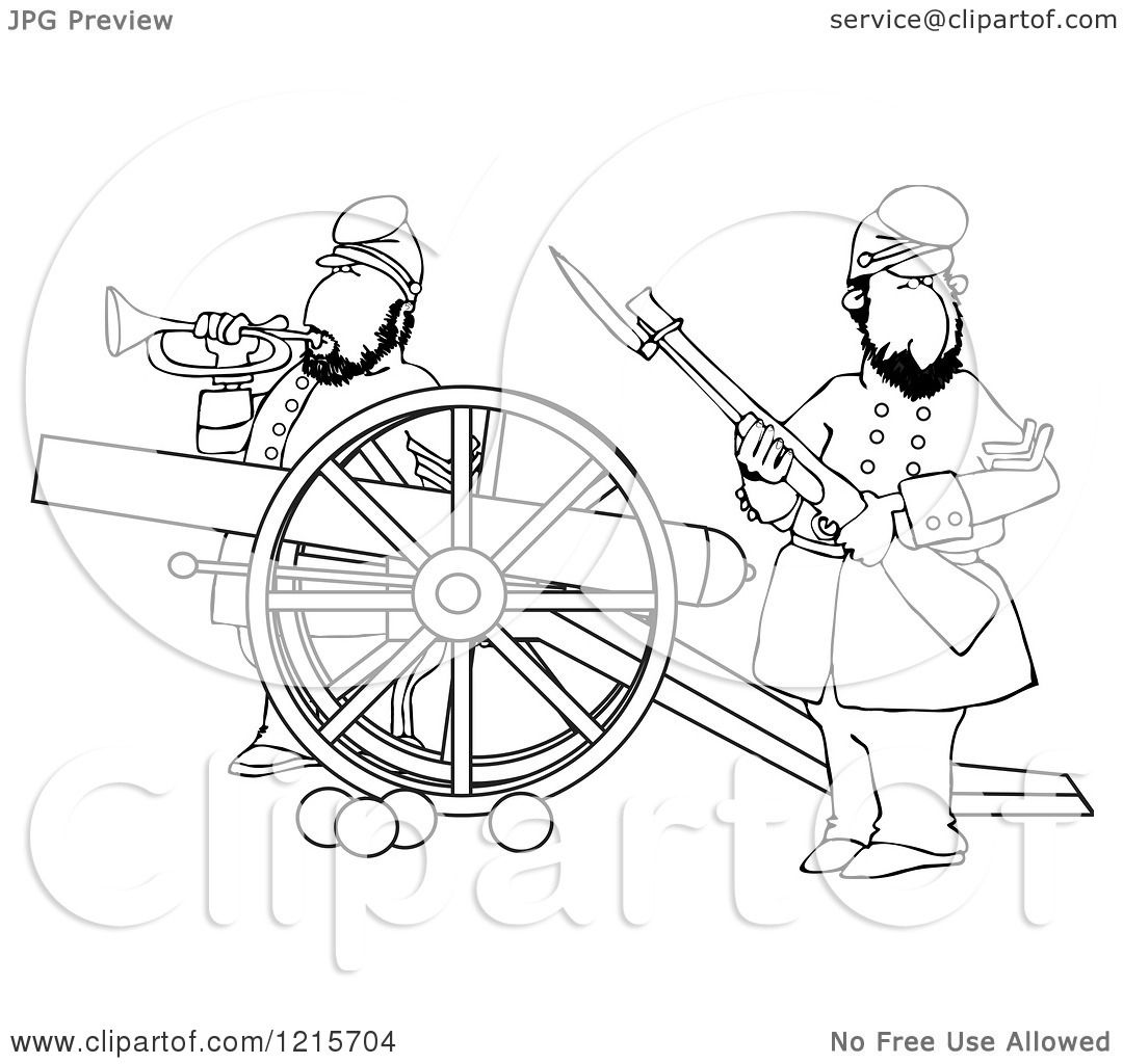 Cannon clipart sketch. Civil war drawing at