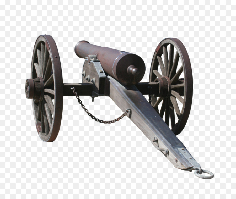 Gun cartoon wheel product. Cannon clipart war weapon