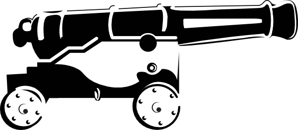 Cannon clipart war weapon. Vector free download for