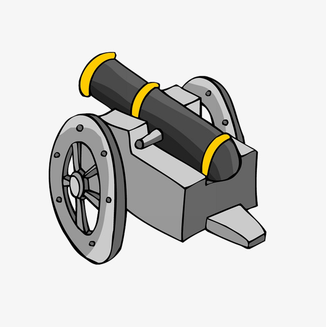 Cannon clipart war weapon. Cartoon arms png image