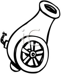Clip art image a. Cannon clipart war weapon