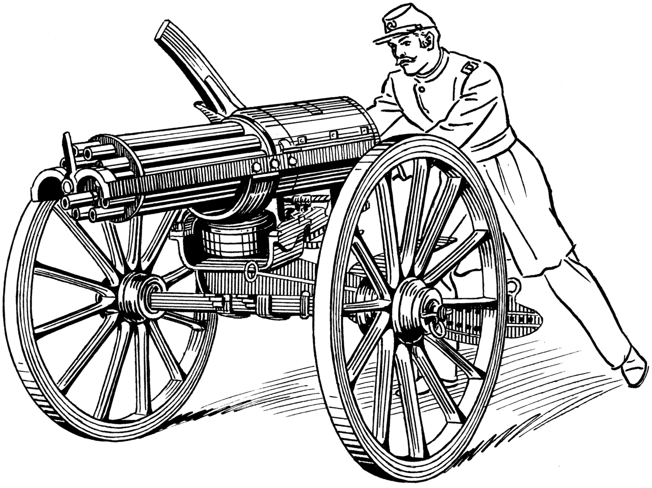 The birth of rapid. Cannon clipart war weapon