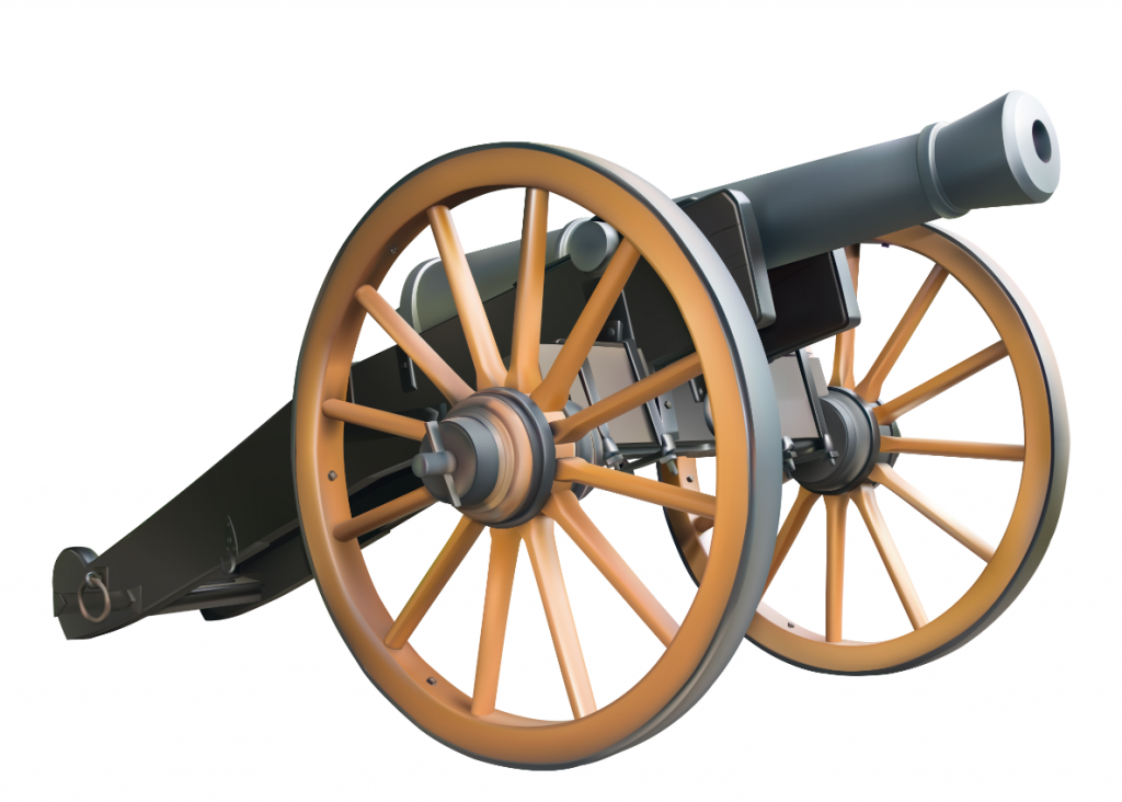 Cannon clipart war weapon. Pin on civil era
