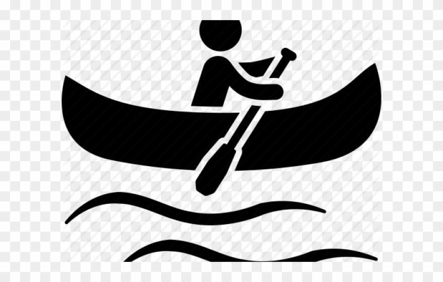 Kayak canoeing icon png. Canoe clipart