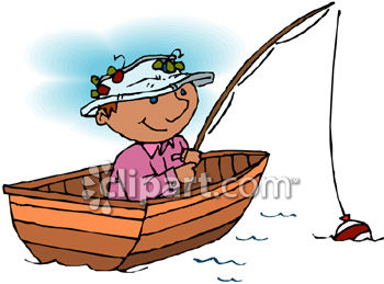 Boating clipart canoe. And fishing