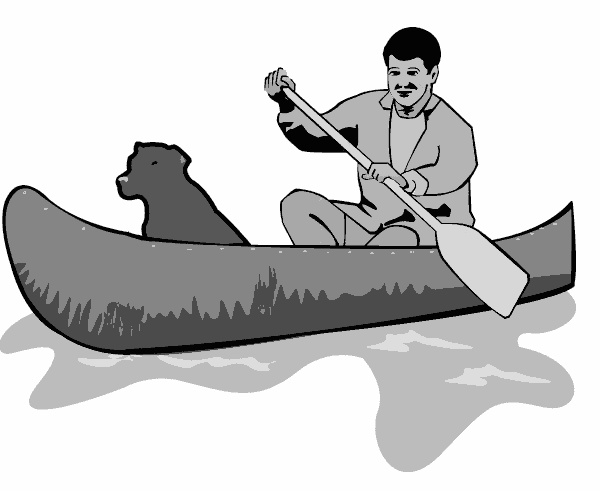 Boats clipart canoe. Canoeing usgs recreation boating