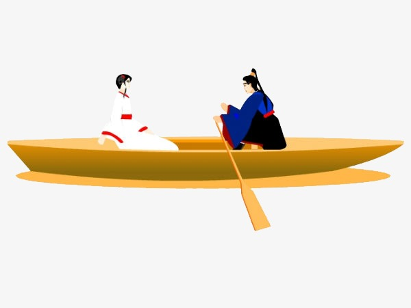 Classical lake tour png. Boat clipart canoe