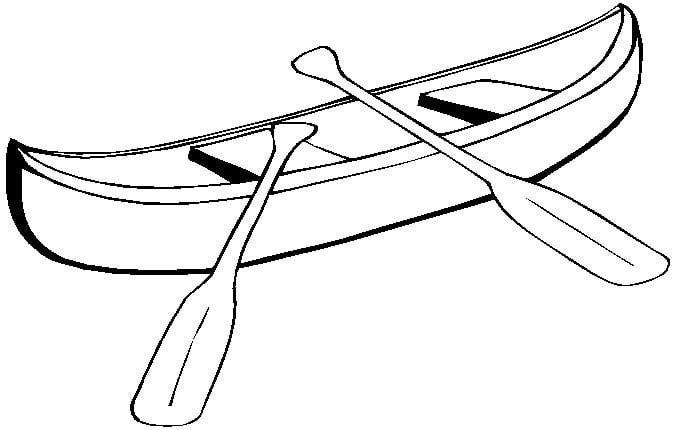 heart tastic crafts. Canoe clipart outline