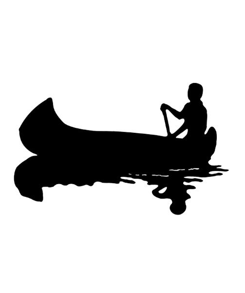 X free clip art. Canoe clipart silhouette