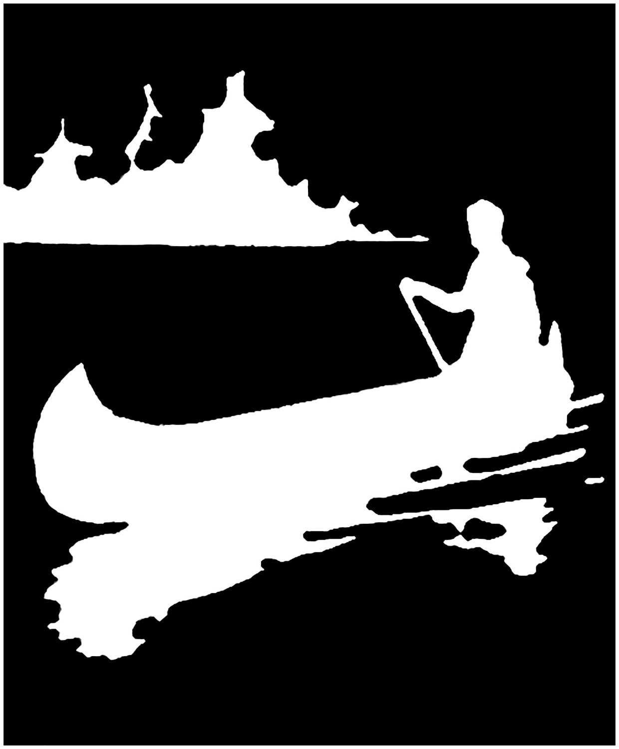 Canoe clipart silhouette. Vintage image images graphics