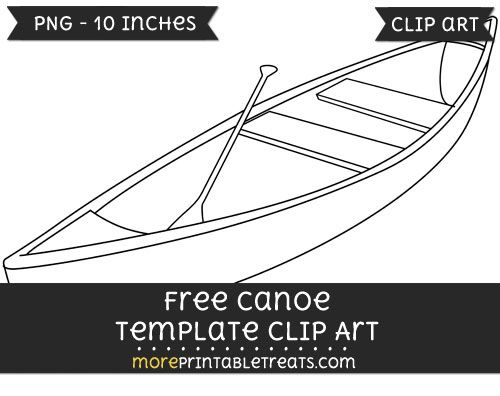 Free template projects pinterest. Canoe clipart skiff