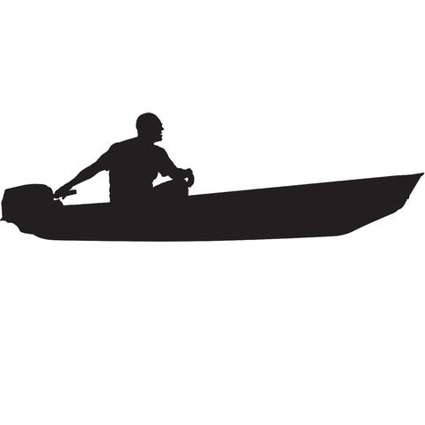 Canoe clipart skiff. Jon boat decals by