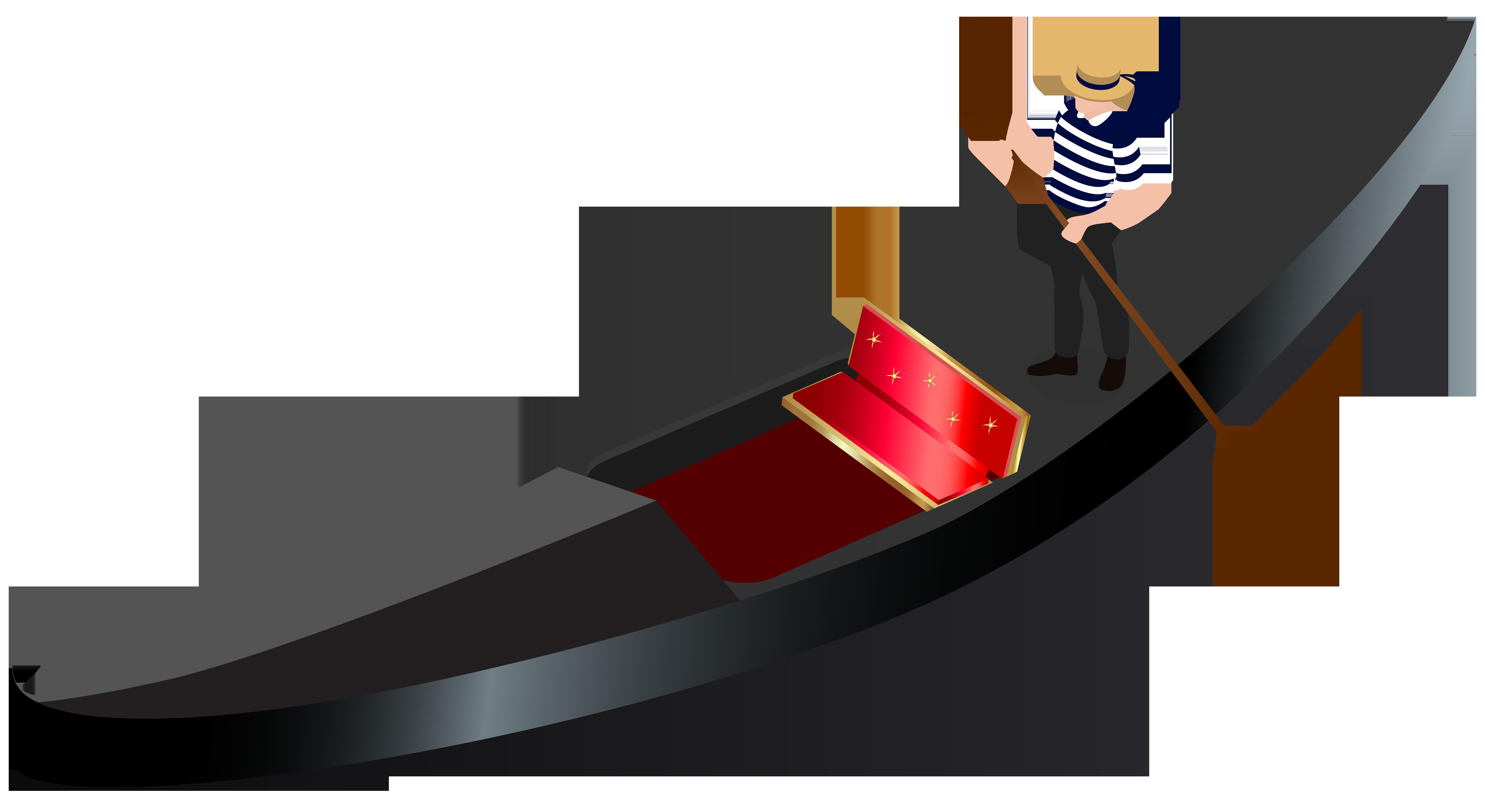 Venetian Gondola Transparent PNG Clip Art Image