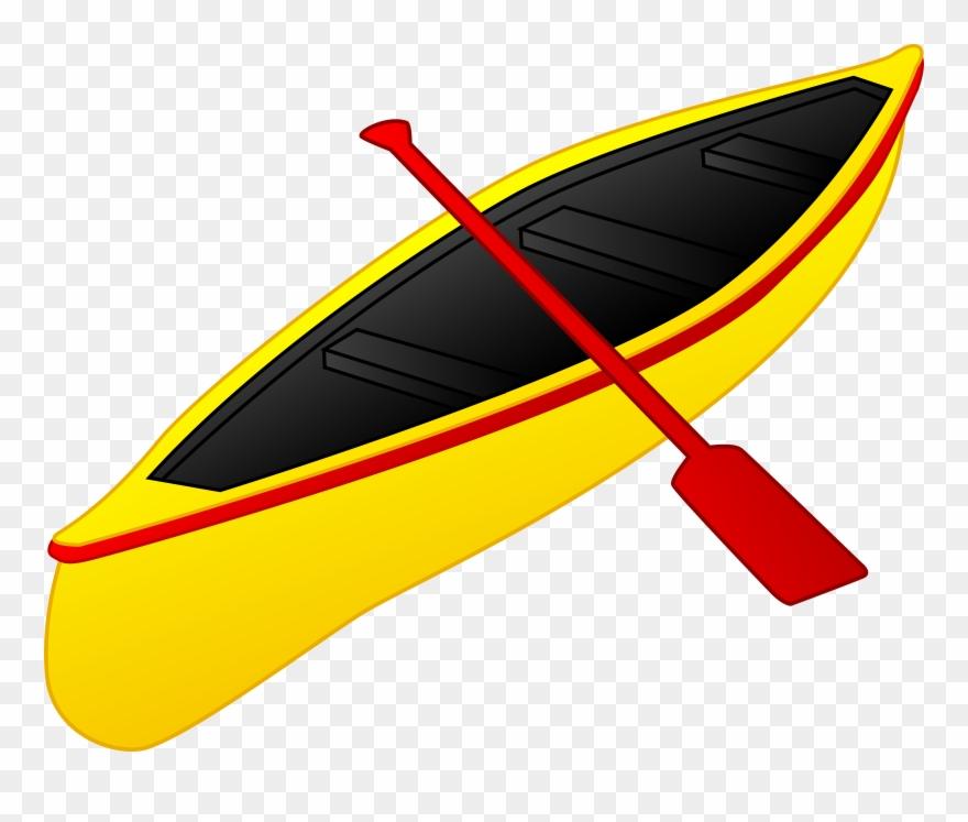 Yellow and canoe transparent. Kayak clipart red kayak