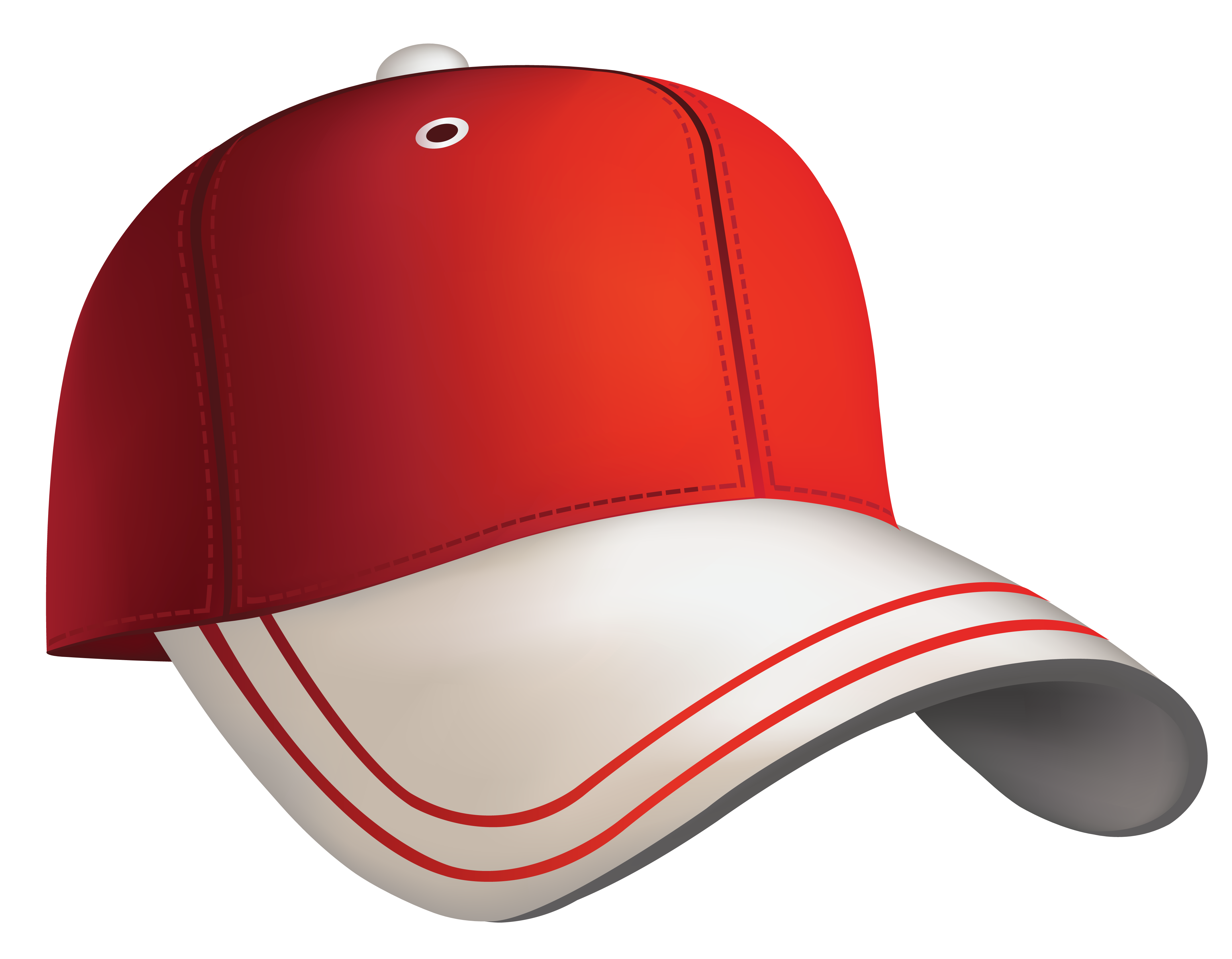 Red baseball . Cap clipart