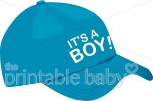 Blue it s a. Cap clipart baby boy