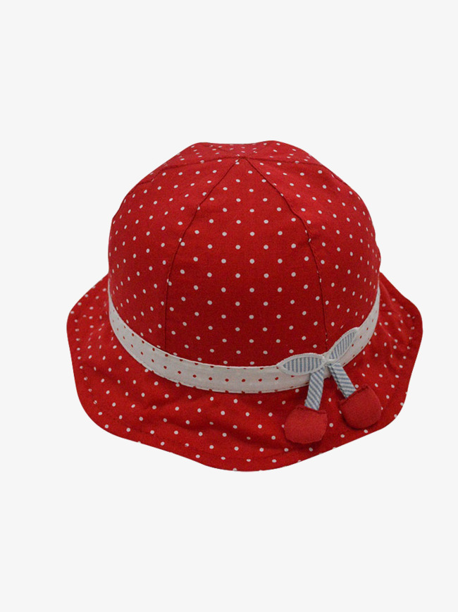 Red and white hat. Cap clipart baby girl