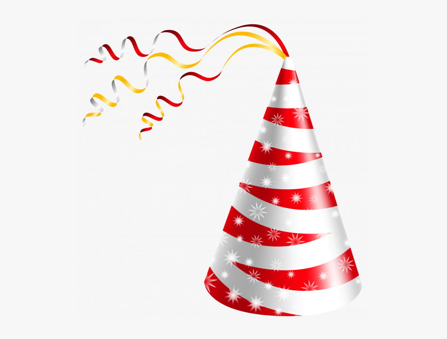 Hat png polka dot. Cone clipart happy birthday