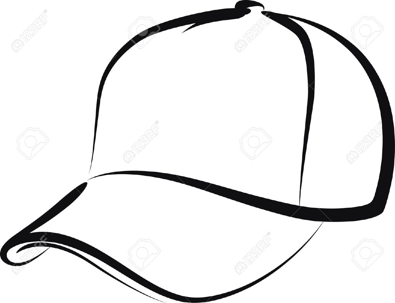 Baseball hat letters. Cap clipart black and white